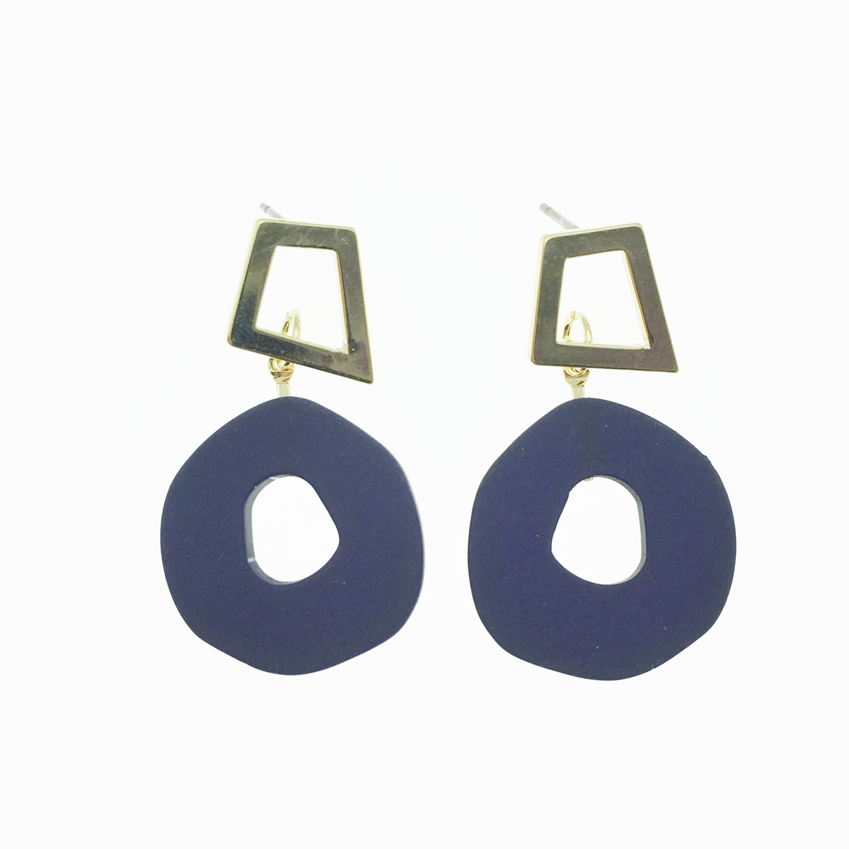韓國 簍空造型 不規則 垂墜感 耳針式耳環