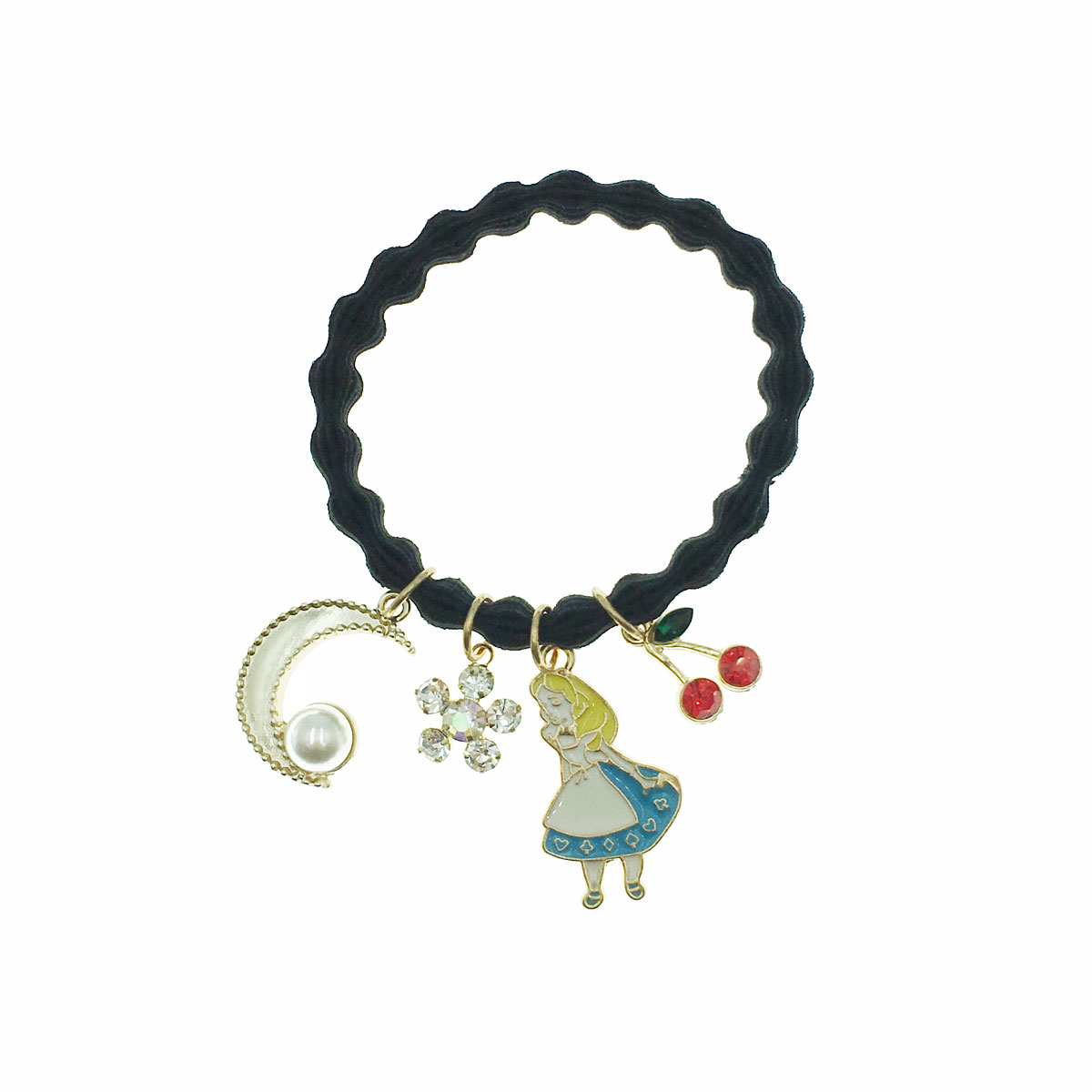 韓國 珍珠 水鑽 愛麗絲 櫻桃 花朵 月亮 髮束 髮圈 髮飾