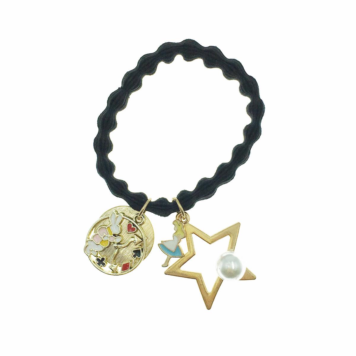 韓國 愛麗絲 兔子 星星 簍空 時鐘 珍珠 髮束 髮圈 髮飾