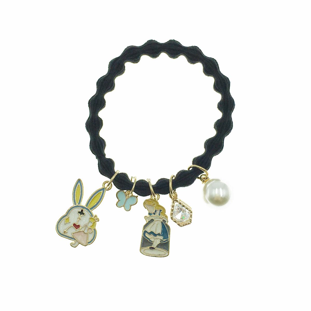 韓國 愛麗絲 珍珠 水鑽 兔子 時鐘 蝴蝶 髮束 髮圈 髮飾