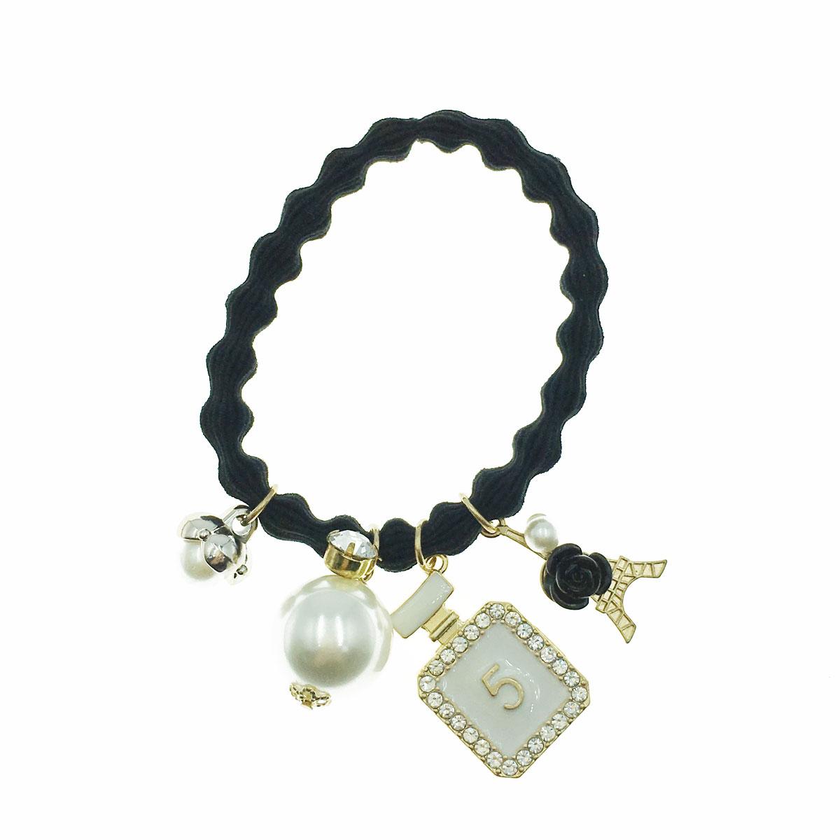 韓國 愛麗絲 水鑽 珍珠 小香風  香水5 鐵塔 花朵 髮束 髮圈 髮飾