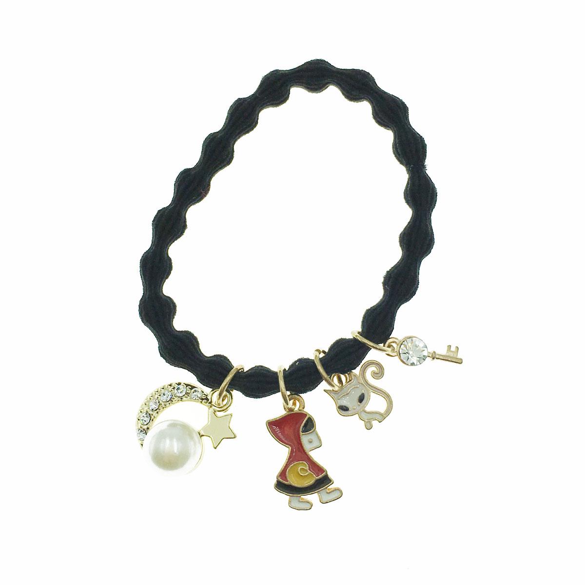 韓國 小紅帽 貓咪 水鑽 珍珠 鑰匙 星星 髮束 髮圈 髮飾