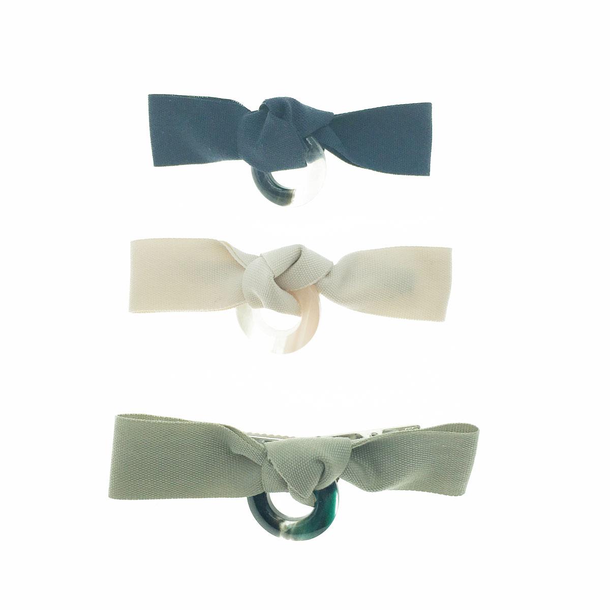 韓國 蝴蝶結 素色 理石 簍空 三色 壓夾 髮夾 髮飾