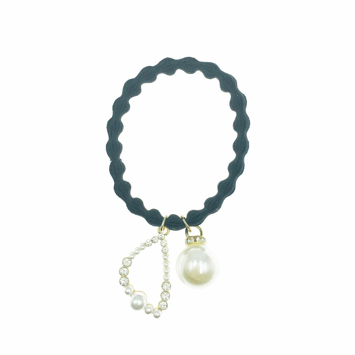 韓國 珍珠 水鑽 簍空 髮圈 髮束 髮飾