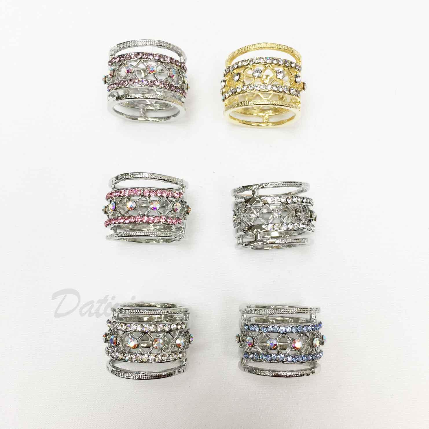 圖騰 紋路 花紋 水鑽 白鑽 金色 六色 絲巾環