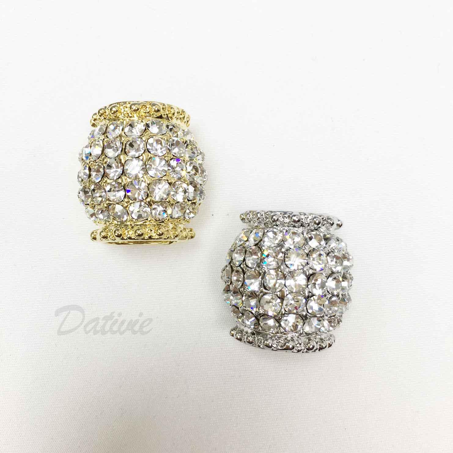 鑽面 金色 璀璨 白鑽 水鑽 兩色 絲巾環