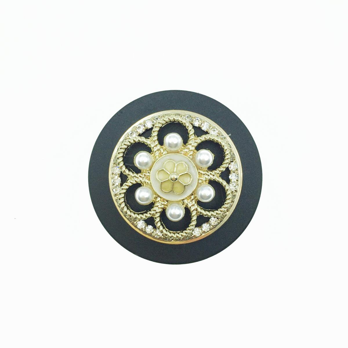 韓國 珍珠 金邊 花朵 小花 水鑽 手機氣墊支架