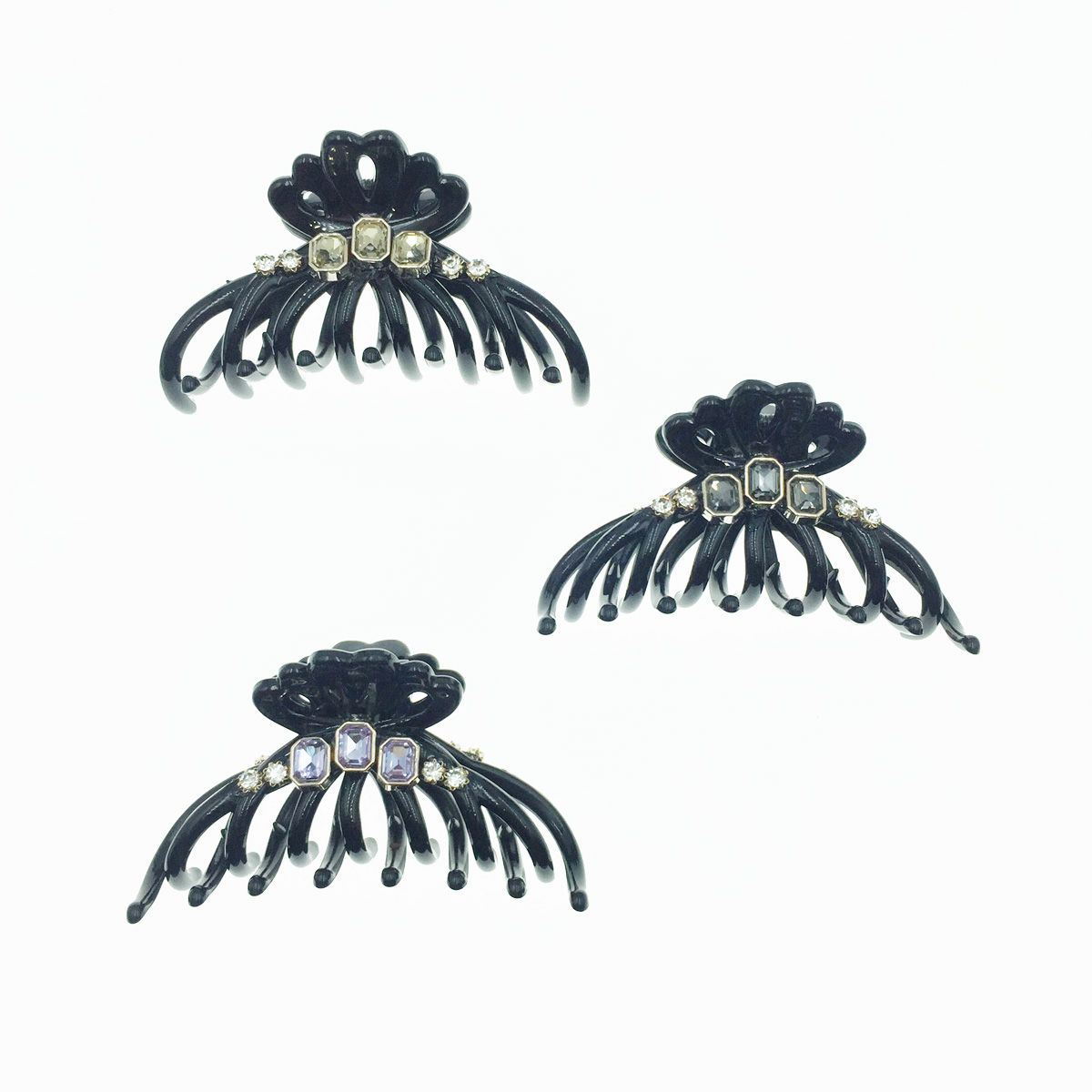韓國 閃耀寶石 水鑽 白鑽 大鯊魚夾 髮夾 髮飾