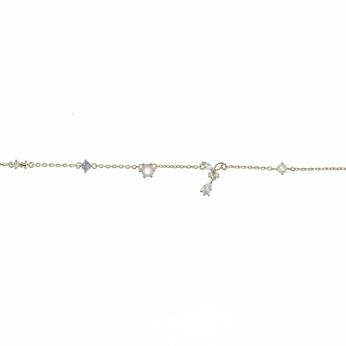 韓國 蝴蝶 水鑽 彩鑽 簍空 垂墜 鎖骨鍊 短鍊 項鍊