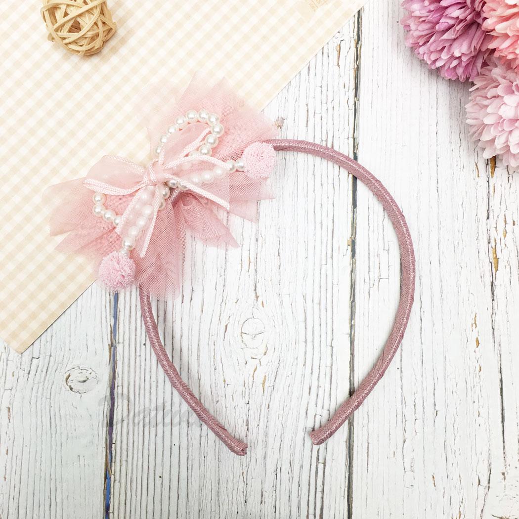 韓國 珍珠 蝴蝶結 兒童 髮箍 髮飾