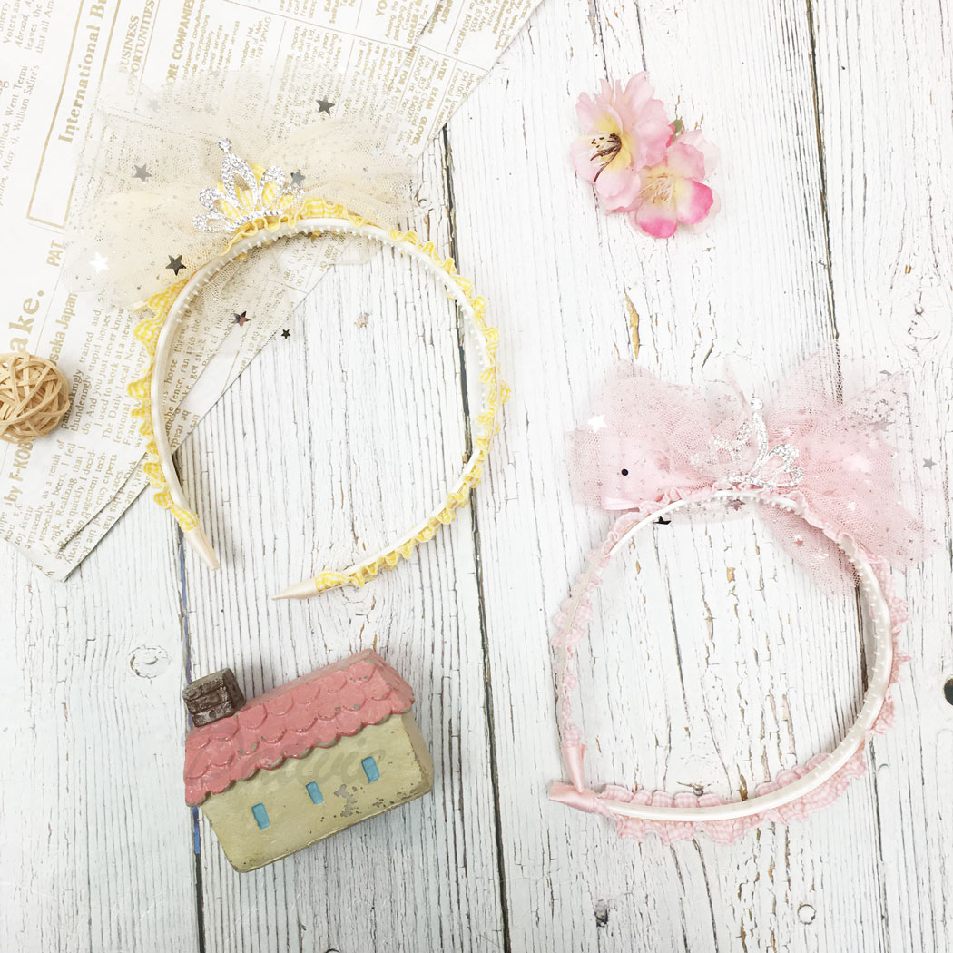 韓國 水鑽 皇冠 星星 亮片 簍空 網紗 格子 兩色 髮箍 髮飾