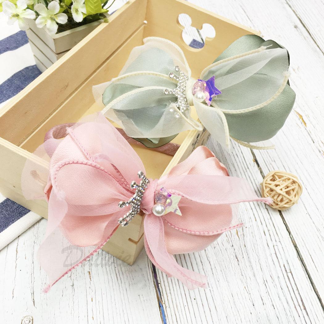 韓國 水鑽 皇冠 珍珠 星星 蝴蝶結 兩色 兒童 髮箍