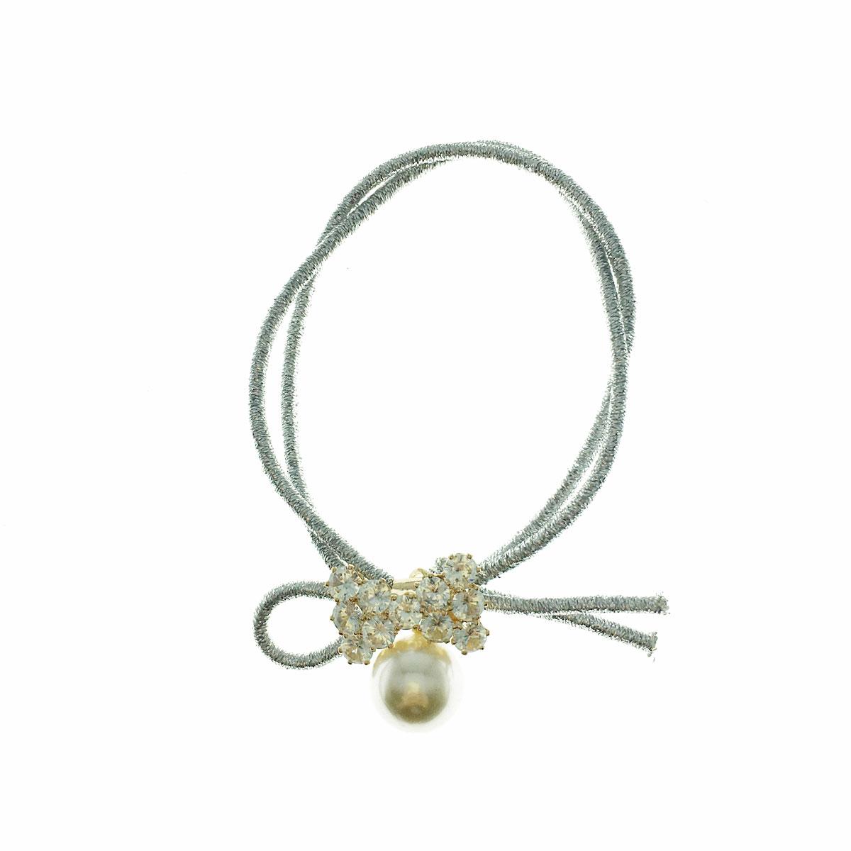 韓國 水鑽 珍珠 蝴蝶結 髮束 髮飾