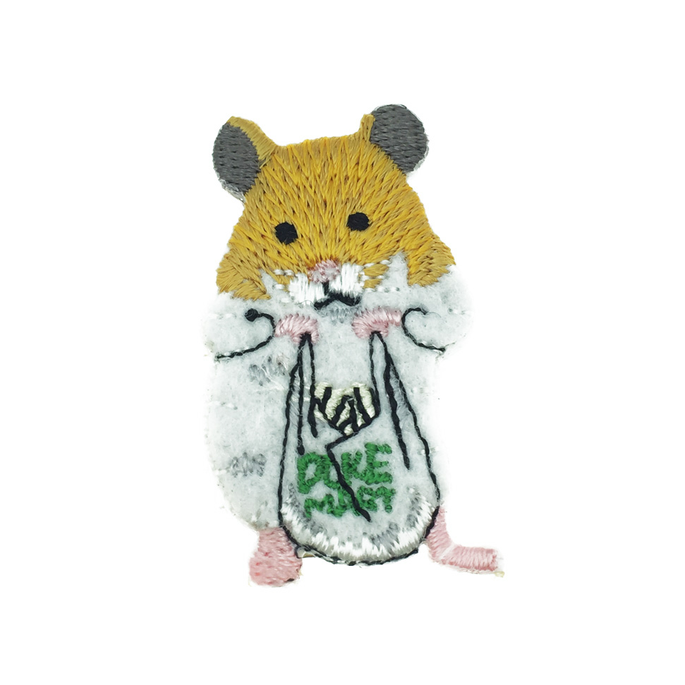 韓國 鼠 提袋 燙布 髮飾 髮夾 壓夾