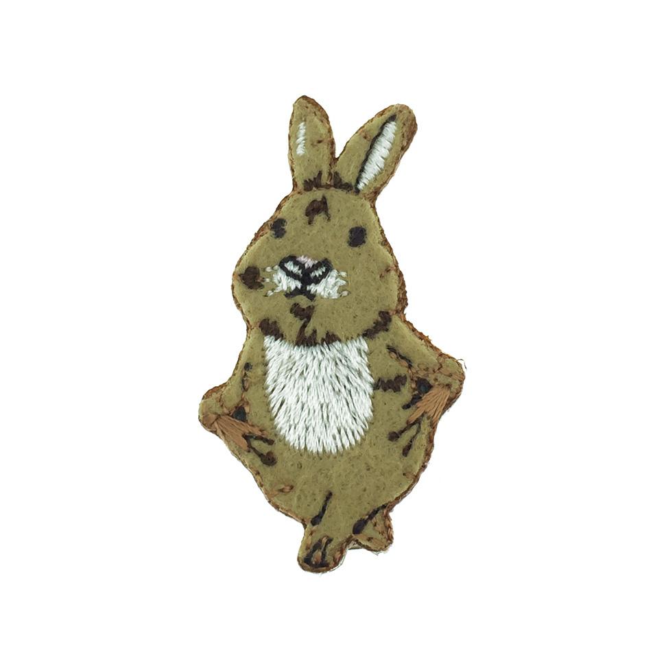 韓國 兔子 燙布 可愛髮飾 壓夾 髮夾