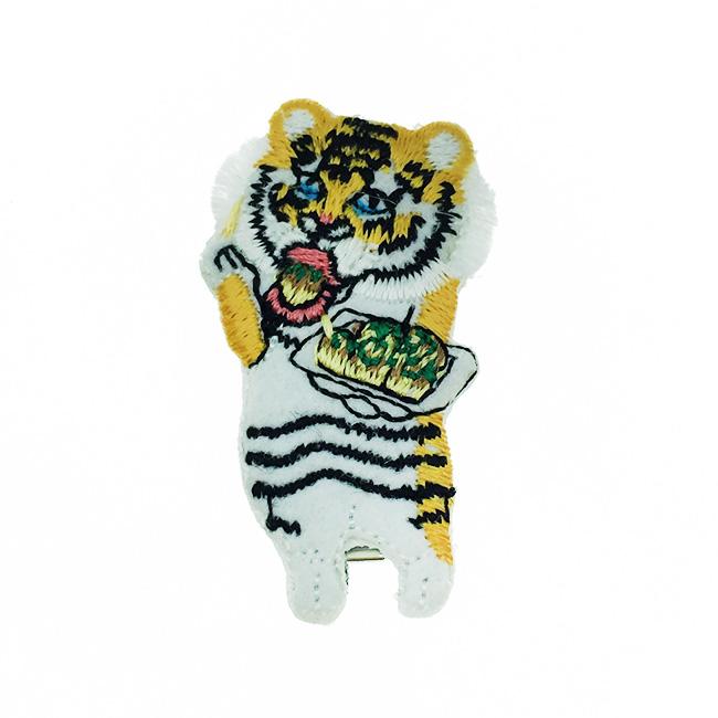 韓國 虎 Tiger 髮夾 燙布 髮飾 壓夾