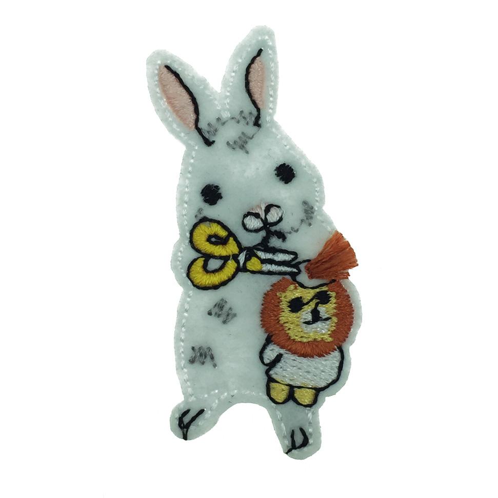 韓國 兔子 燙布 可愛動物 髮飾 髮夾