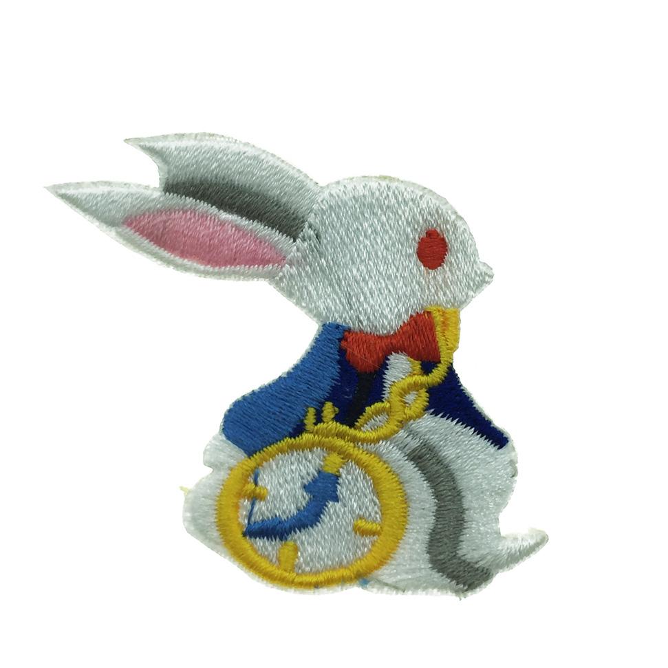 韓國 燙布 可愛兔子 懷錶 別針