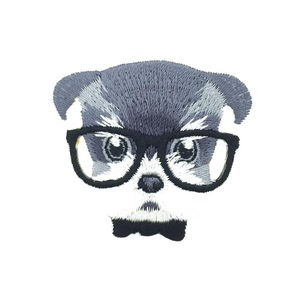 韓國 燙布 雪納瑞 眼鏡 衣帽針 別針