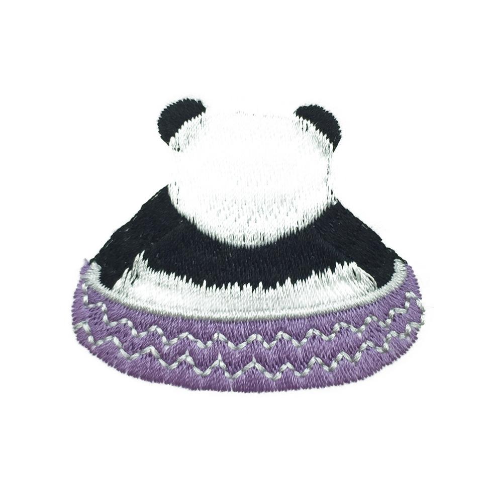 韓國 熊貓 燙布 貓熊 胸帽針 別針