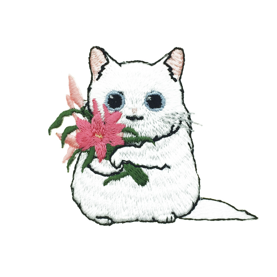 韓國 貓咪 花 別針