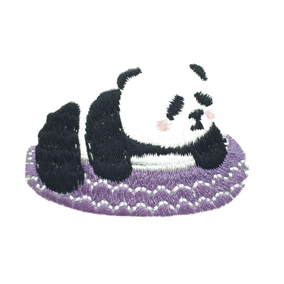 韓國 貓熊 燙布 可愛熊貓 衣帽針 別針