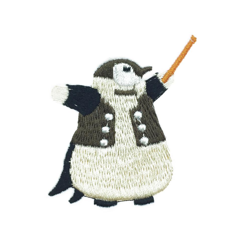 韓國 燙布 企鵝 別針 胸針