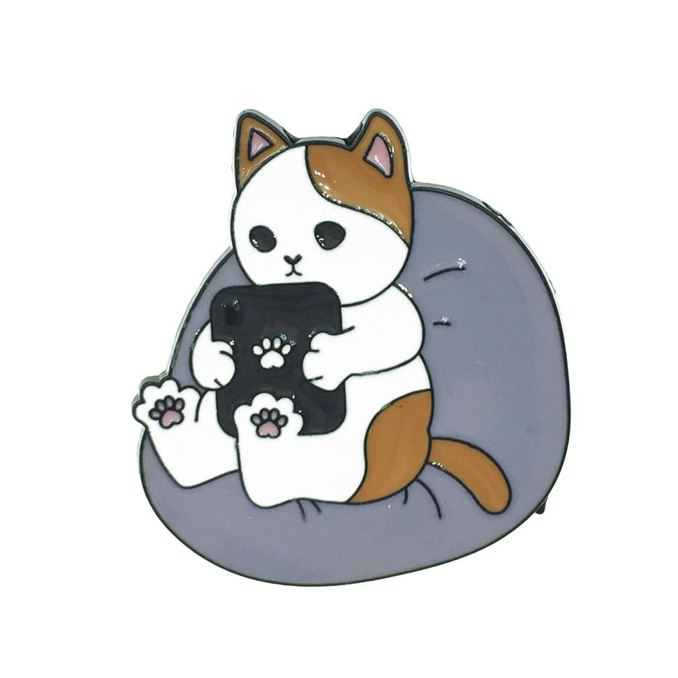 韓國 貓 cat 掌印 別針