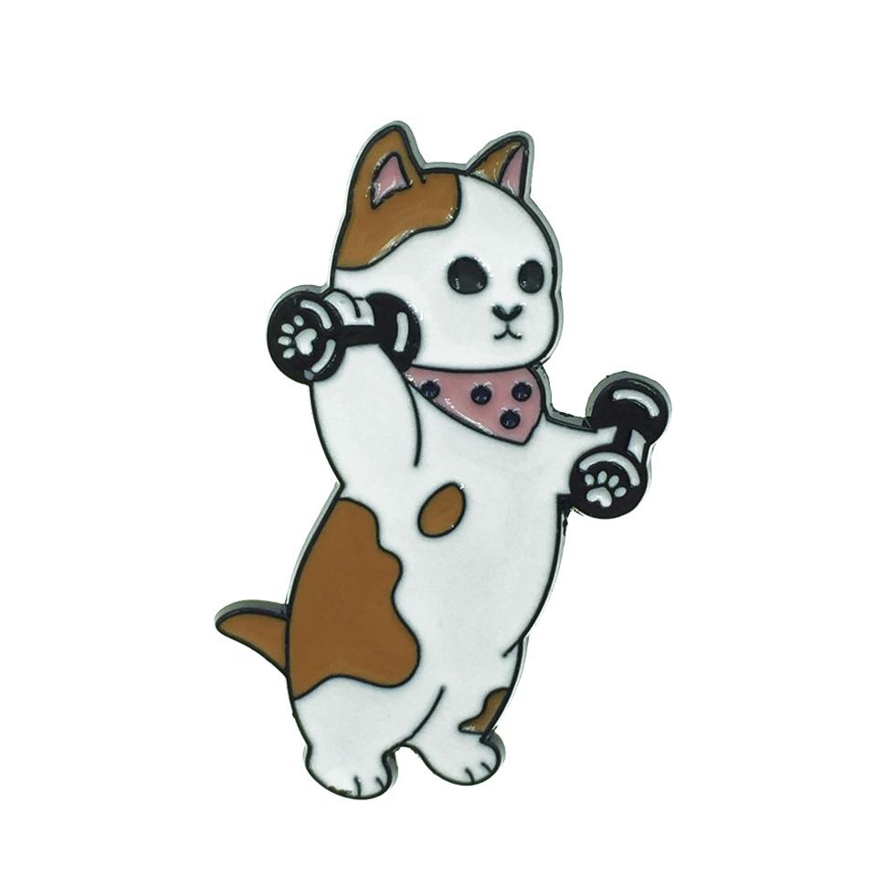 韓國 Cat 貓咪 運動 啞鈴 別針
