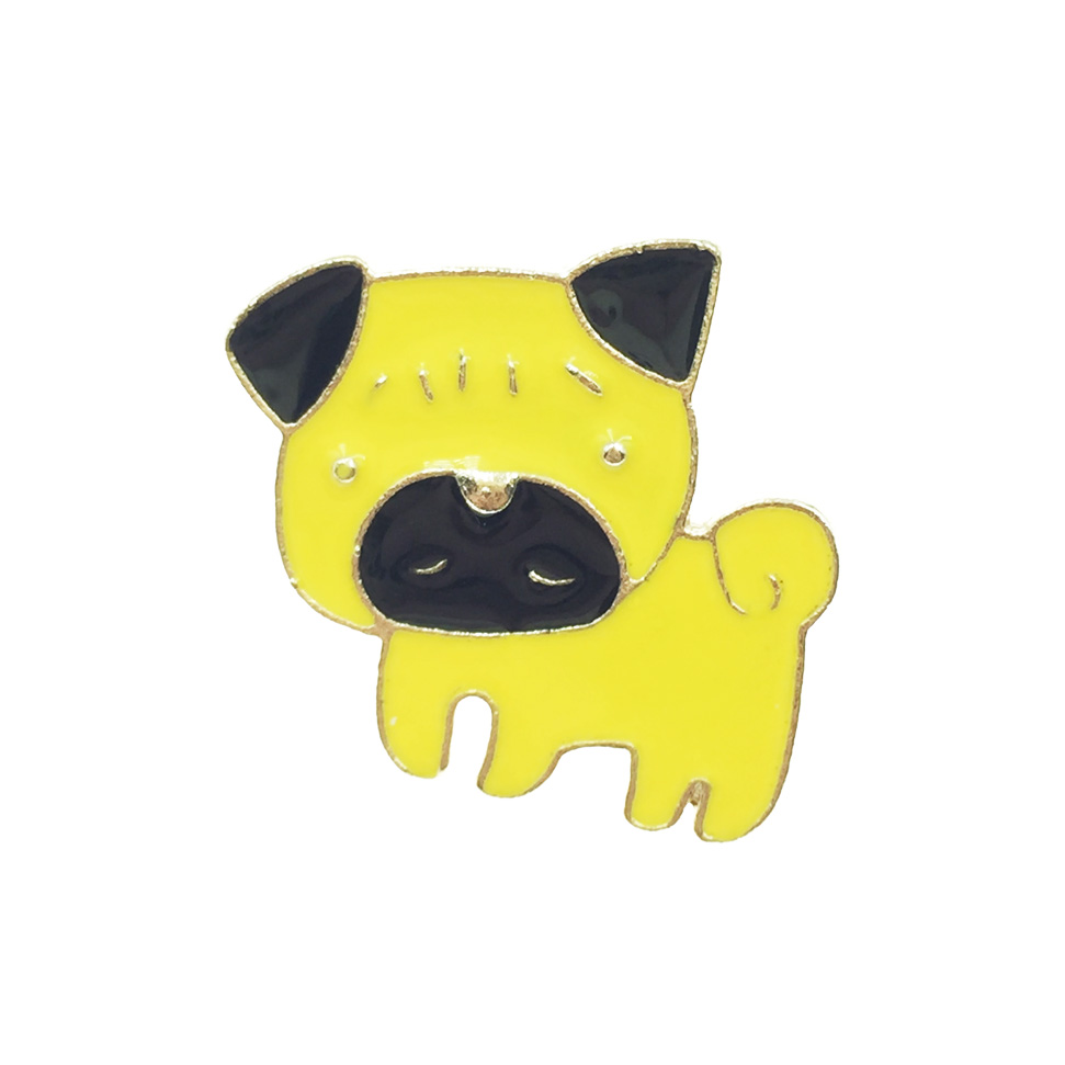 韓國 狗 黃色 胸針 別針