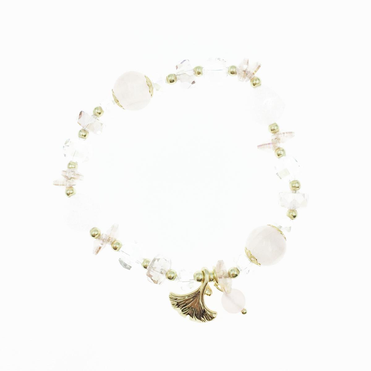 韓國 水晶 串珠 貝殼 墜飾 手鍊
