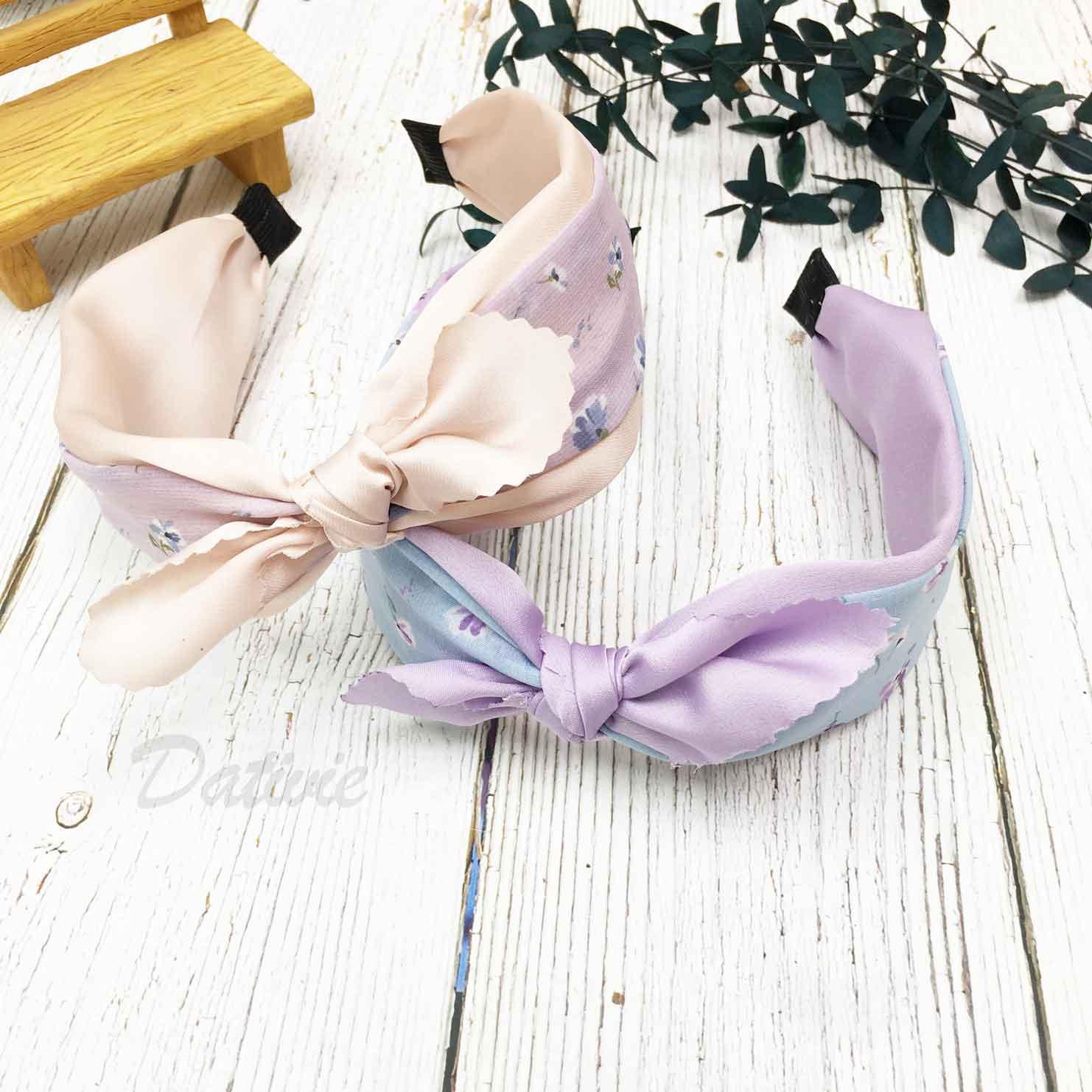 韓國 蝴蝶結 鋸齒邊 花花 2色 髮箍 頭箍