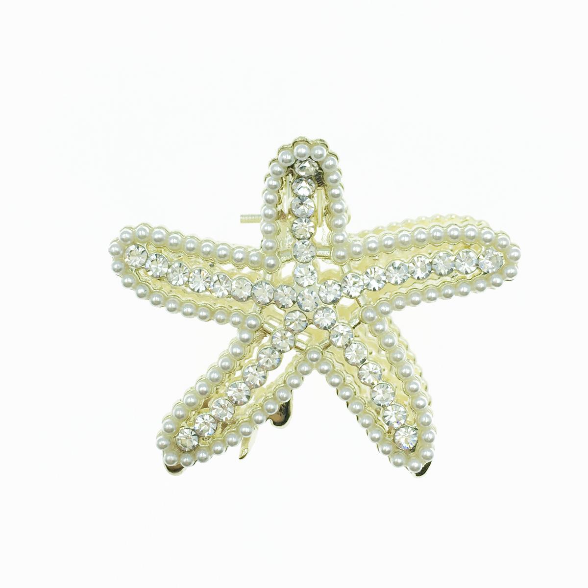 韓國 海星 珍珠 水鑽 髮飾