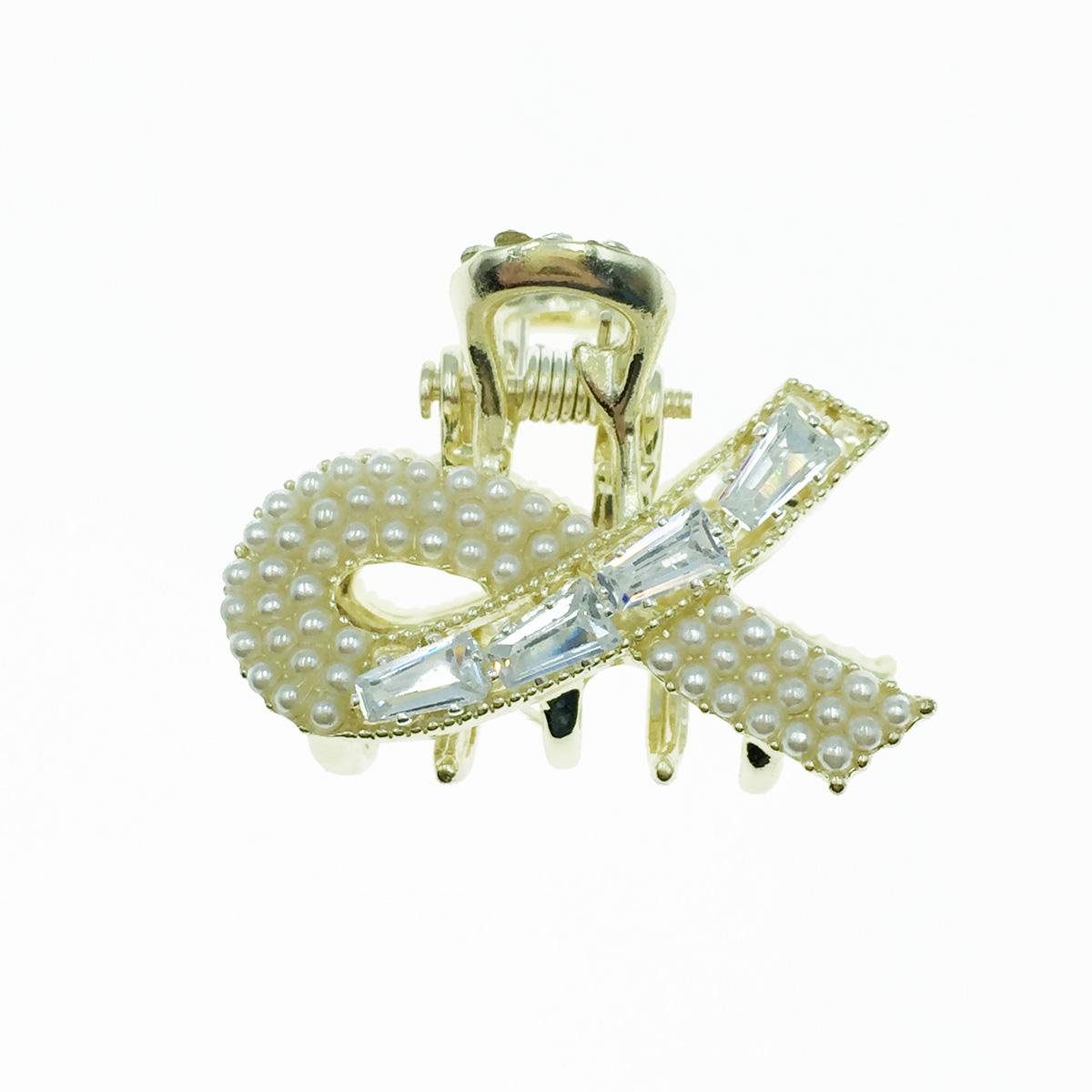 韓國 長鑽 珍珠 小抓夾 瀏海夾