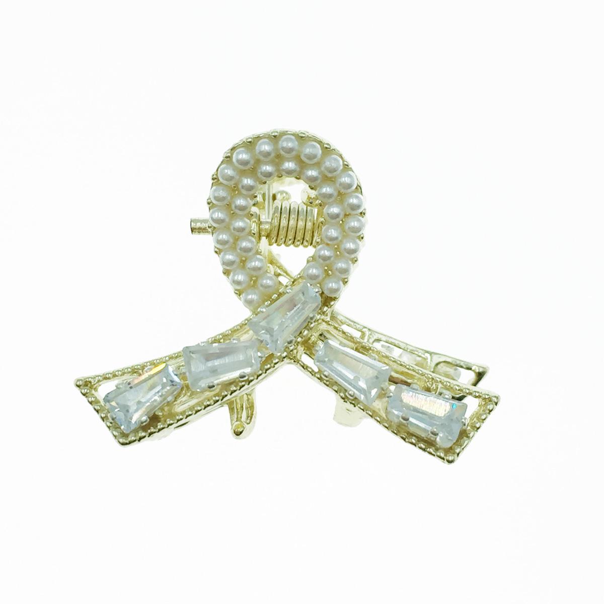 韓國 水鑽 珍珠 髮飾 小抓夾 瀏海夾