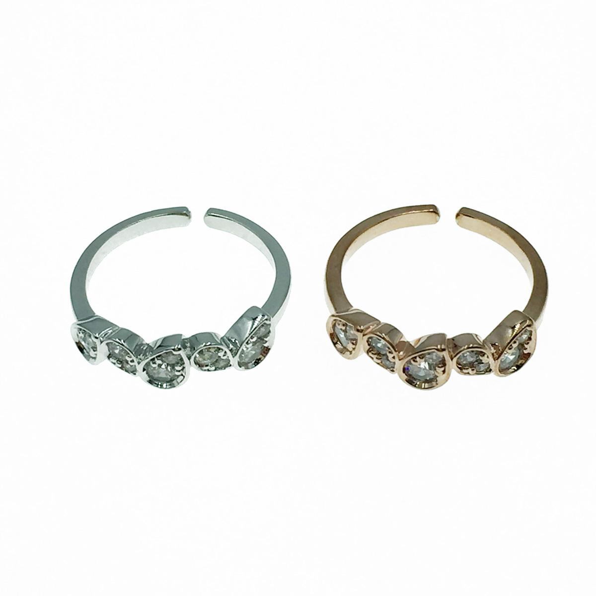 韓國 水滴水鑽 明星款飾品 可調式 戒指