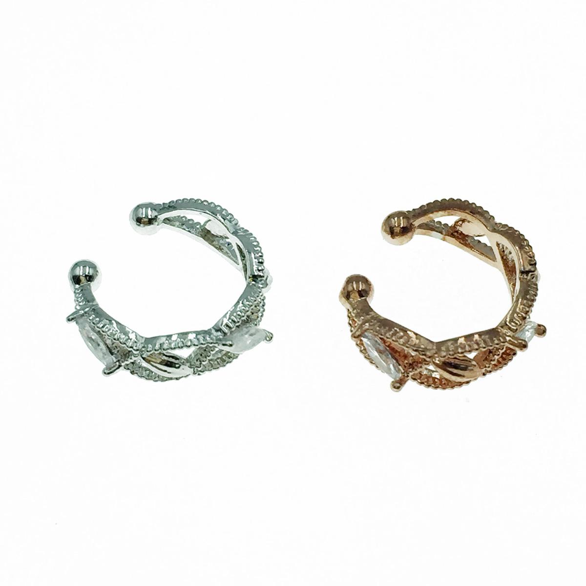 韓國 水鑽造型  銀 玫瑰金 耳骨夾