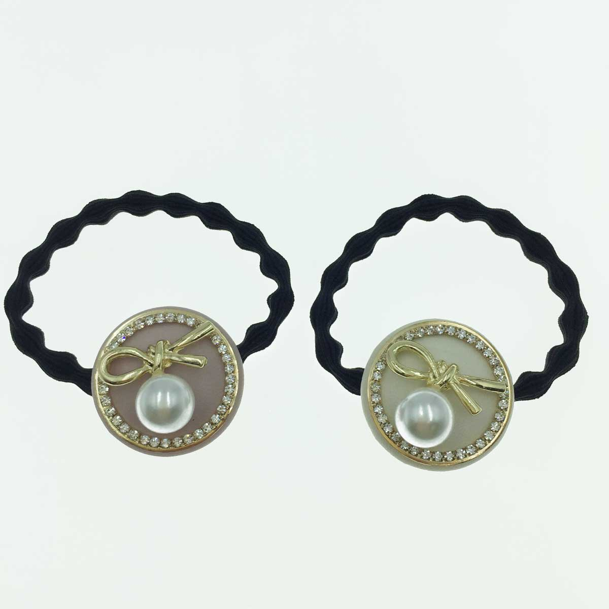 韓國  水鑽 珍珠 造型結 髮束