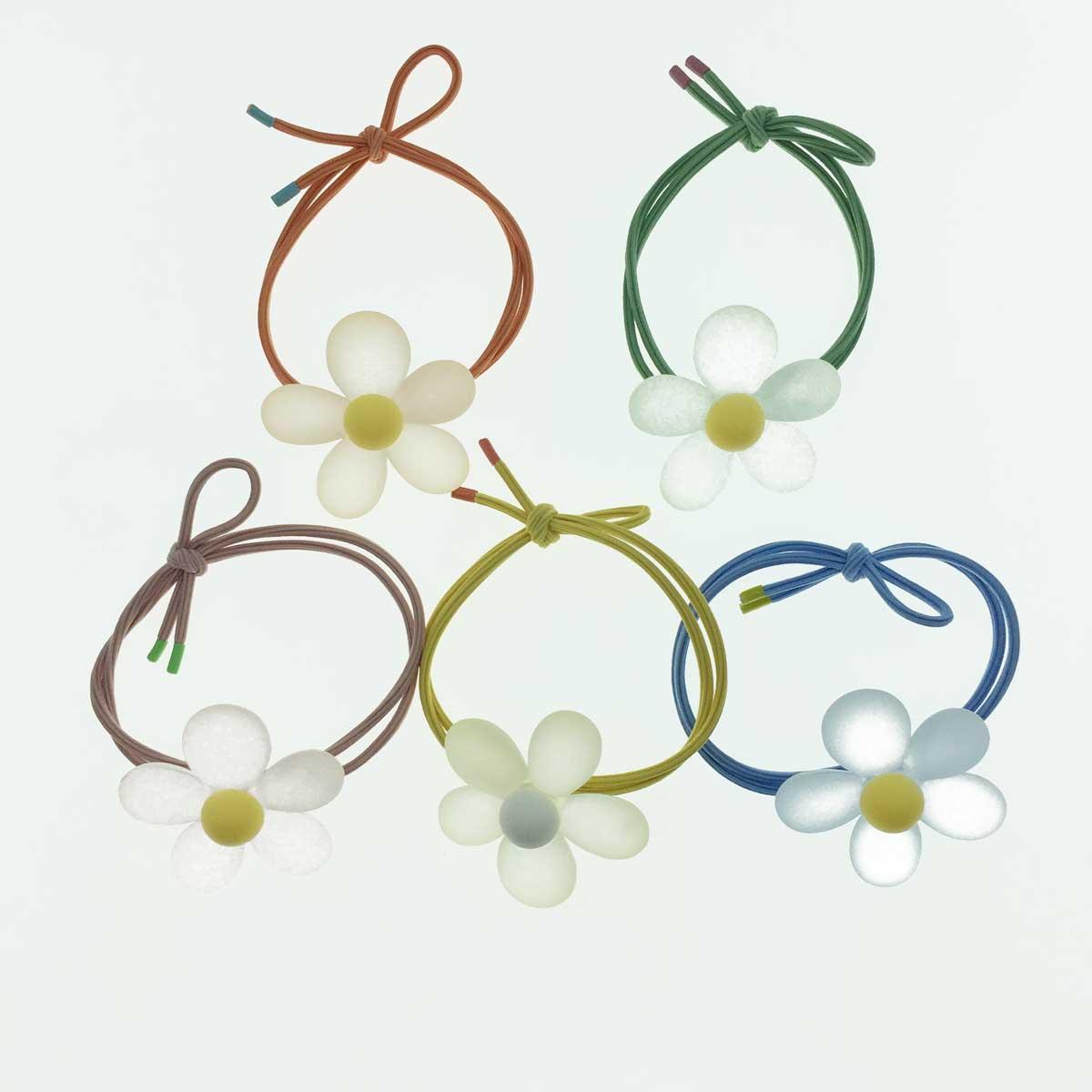 韓國 果凍 霧面 花朵  五色  髮束