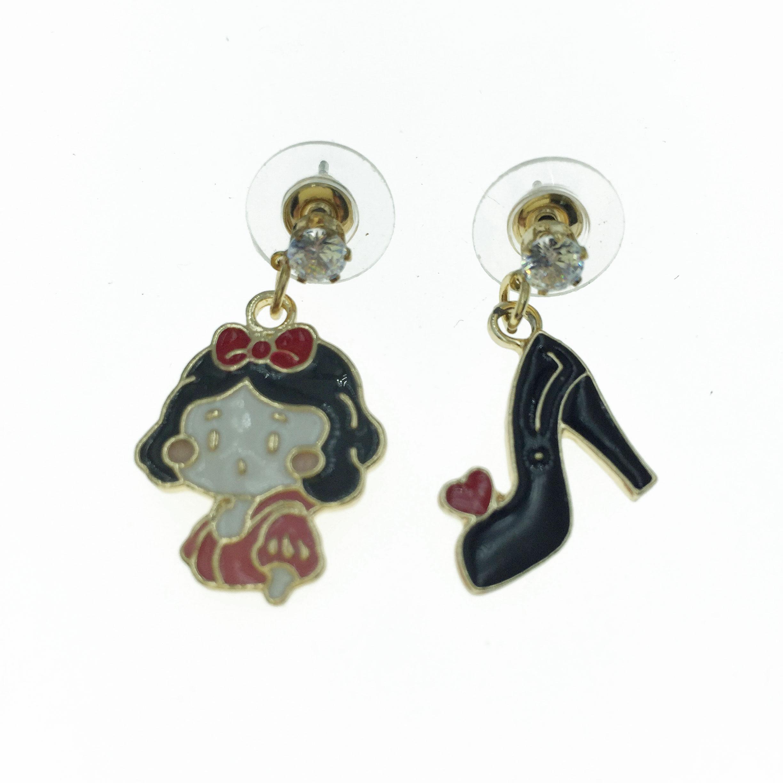 925純銀 小女孩 高跟鞋 造型 耳針式耳環