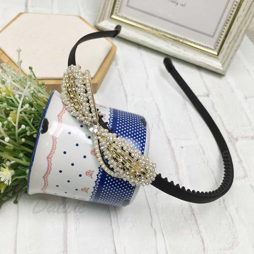 水鑽 珍珠 蝴蝶結 髮飾 髮箍