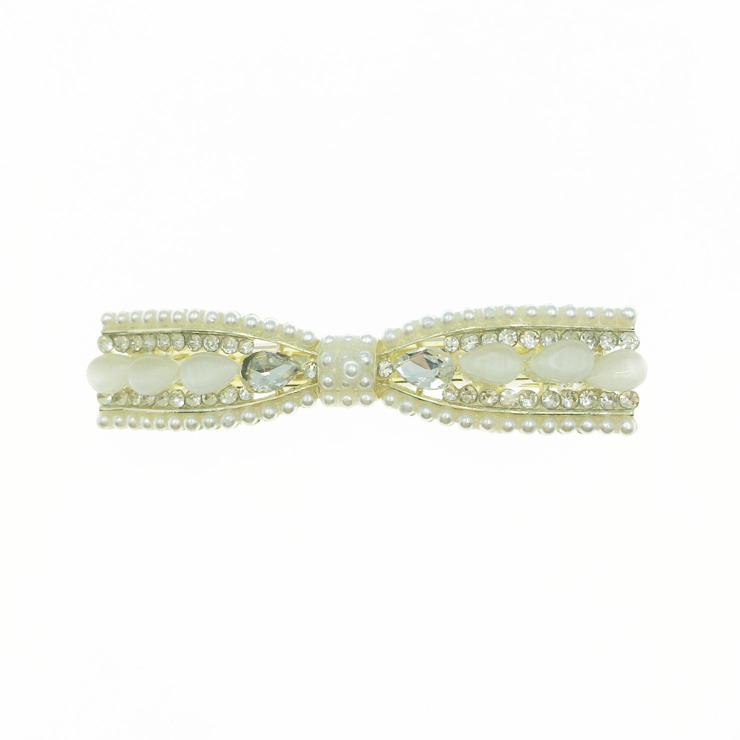 韓國 水鑽 珍珠 水滴 貓眼石 蝴蝶結 造型 壓夾 髮飾