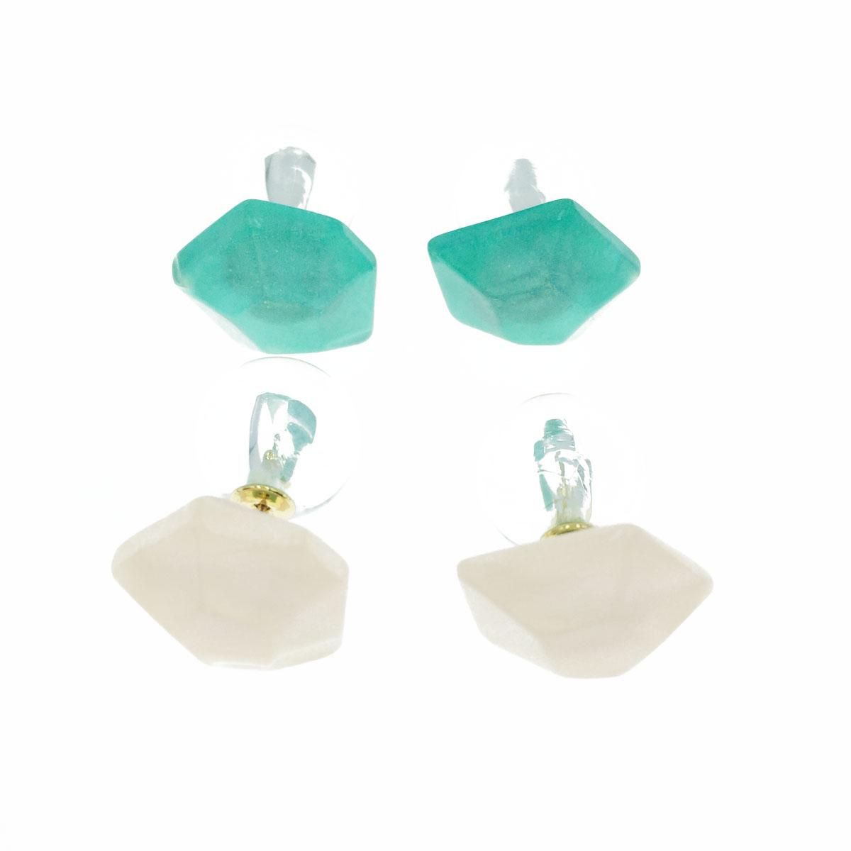 韓國 不規則 造型 前後式 二用 耳針式耳環