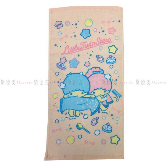童巾 三麗鷗 雙子星 kikilala 100%棉 長巾 正版授權