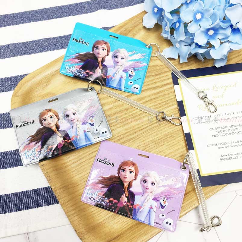 橫式票卡套 迪士尼 冰雪奇緣2 Elsa 雪寶 Anna 3色 伸縮 票夾 正版授權