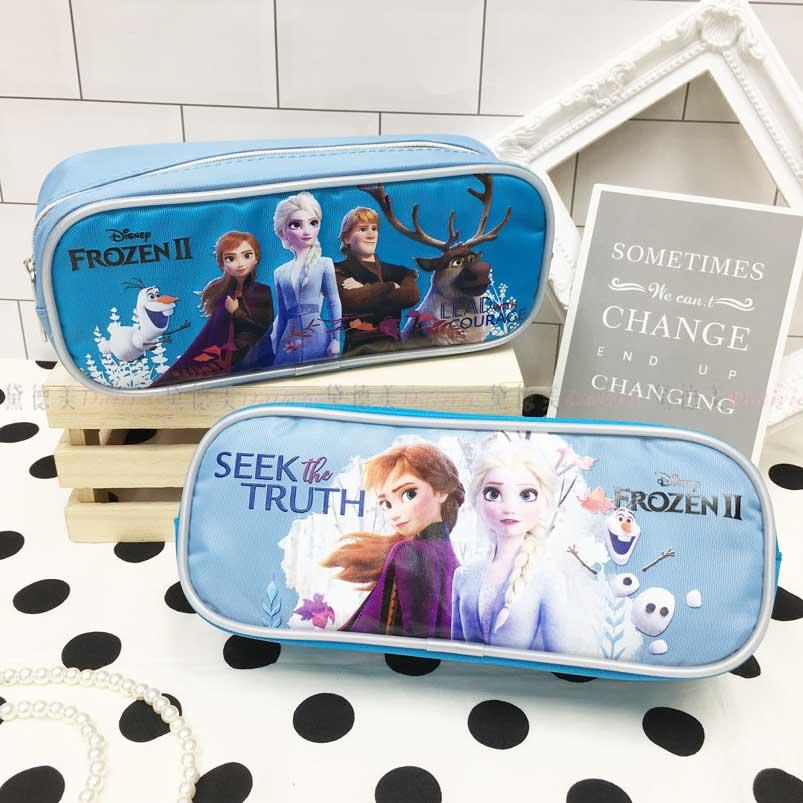 方形筆袋 迪士尼 冰雪奇緣2 Elsa 雪寶 Anna 2款 拉鍊筆袋 正版授權