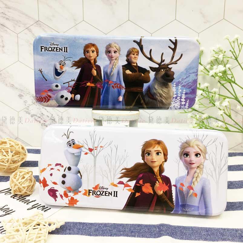 雙層鐵筆盒 迪士尼 冰雪奇緣2 Elsa 雪寶 Anna 2款 鉛筆盒 正版授權