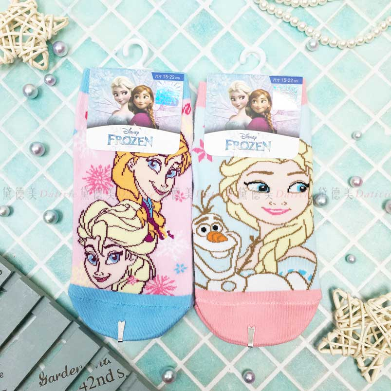 短襪 迪士尼 冰雪奇緣 Elsa Anna 雪寶 2款 兒童短襪 正版授權