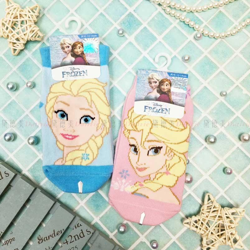 止滑童襪 迪士尼 冰雪奇緣 艾莎 Elsa 2色 直版襪 幼童襪 正版授權