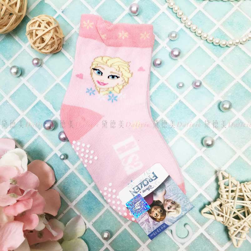 止滑童襪 迪士尼 冰雪奇緣 Elsa 艾莎 寶寶短襪 幼童短襪 正版授權